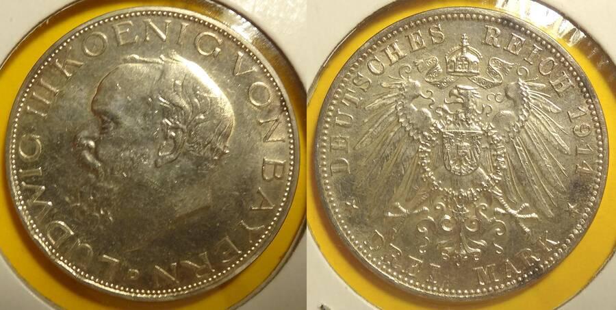 Bavaria 1913 3 Mark