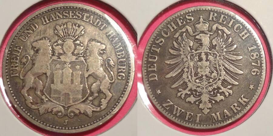 Hamburg 1876-J 2 Mark