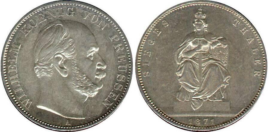 Prussia 1871 1 Thaler Commemorative