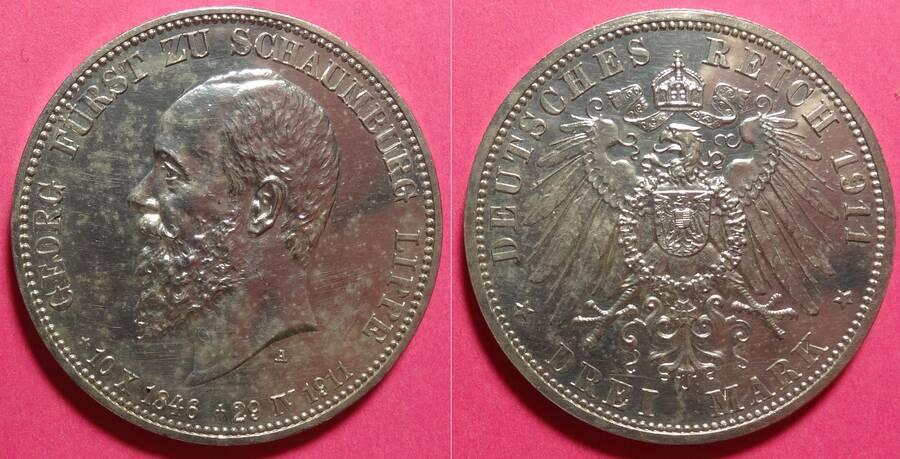Schaumburg-Lippe 1911 3 Mark