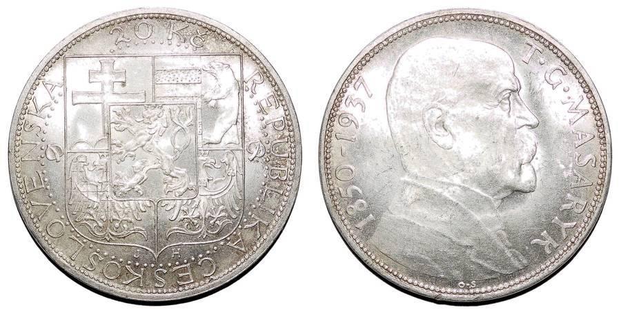 CZECHOSLOVAKIA (REPUBLIC)~20 Koruna 1937