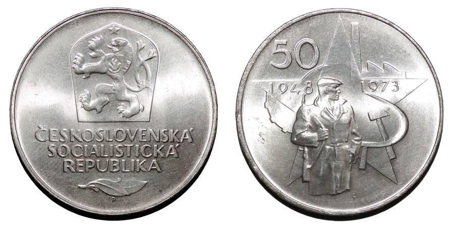CZECHOSLOVAKIA (SOCIALIST REPUBLIC)~50 Koruna 1973