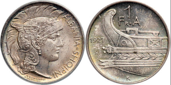 Albania Frang Ar - 1927