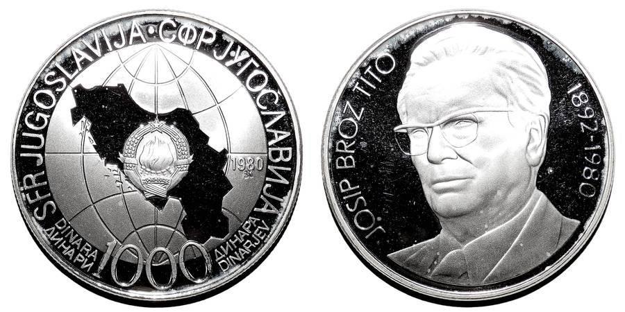 YUGOSLAVIA (SOCIALIST FEDERAL REPUBLIC)~1,000 Dinara  1980