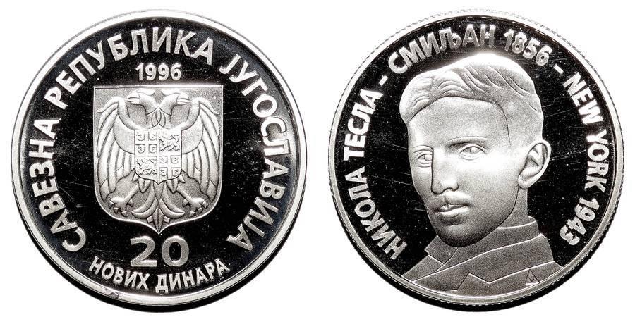 YUGOSLAVIA (FEDERAL REPUBLIC)~20 Novi Dinara 1996