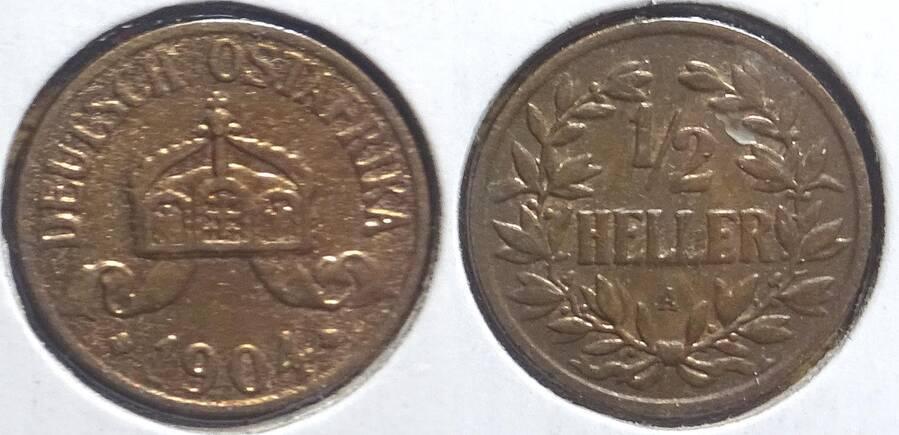 German East Africa 1904-A ½ heller
