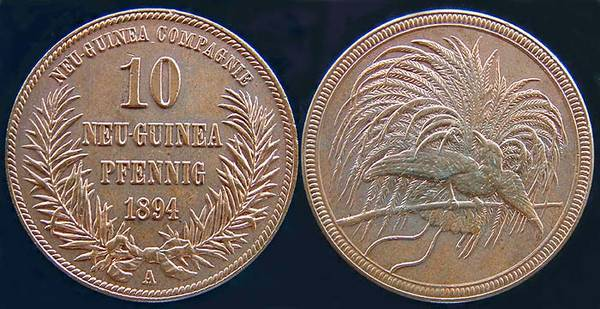 German New Guinea 10 Pfennig