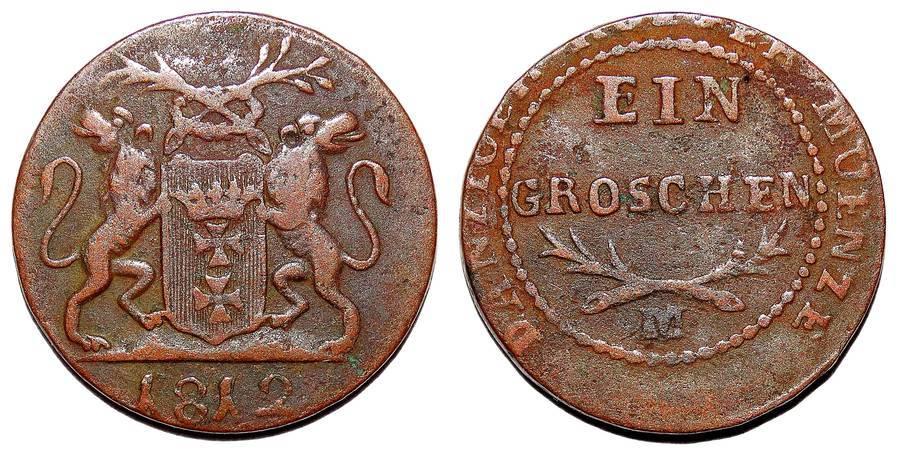 DANZIG (FREE CITY)~1 Groschen 1812