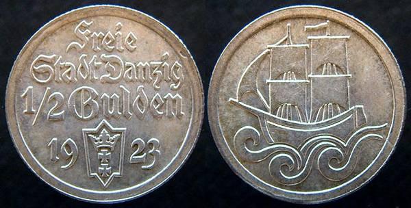 Danzig 1/2 Gulden