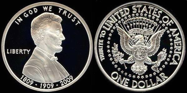 Lincoln - Clad silver