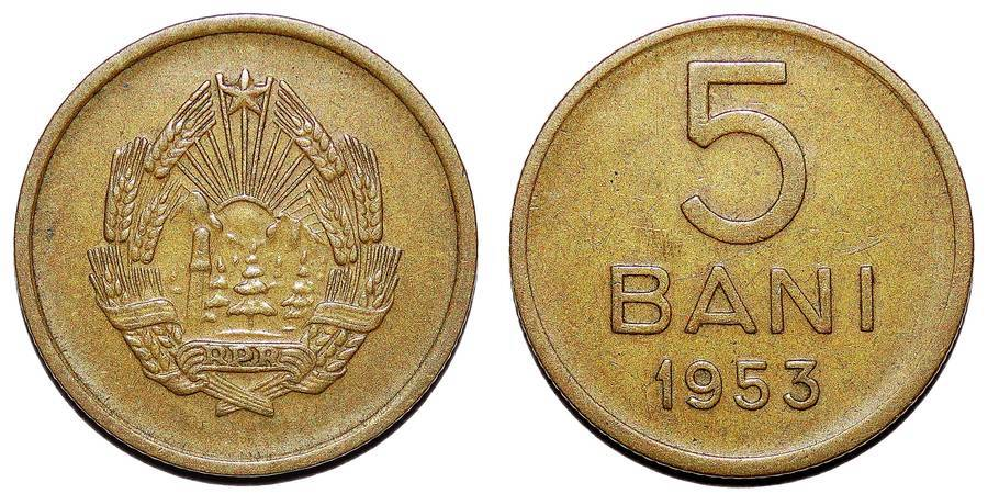 ROMANIA (PEOPLES REPUBLIC)~5 Bani 1953
