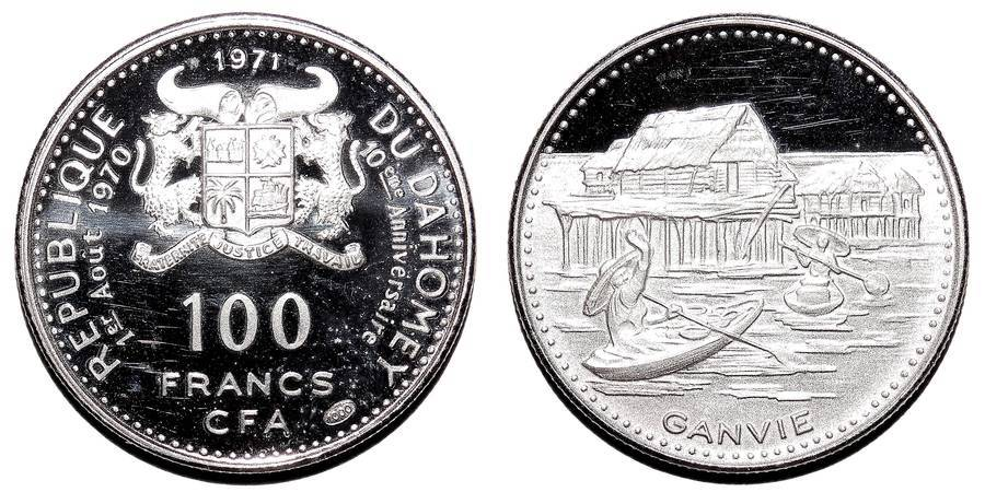 DAHOMEY~100 CFA Francs 1971