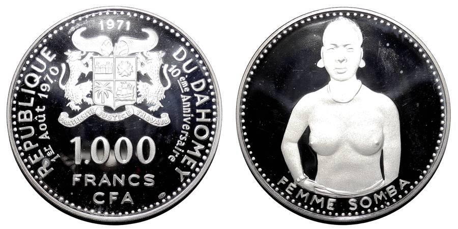 DAHOMEY~1,000 CFA Francs 1971
