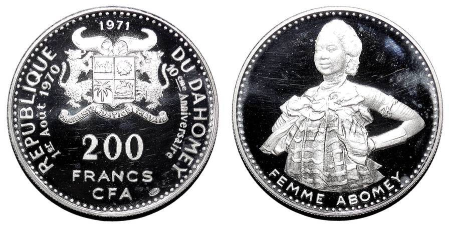 DAHOMEY~200 CFA Francs 1971