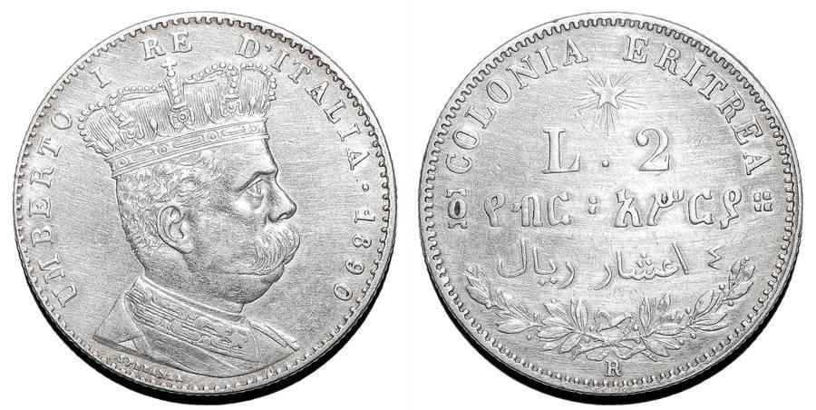 ERITREA (COLONIAL)~2 Lire 1890 R