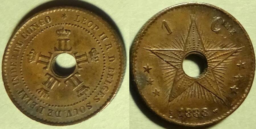 Congo Free State 1888 1 centime