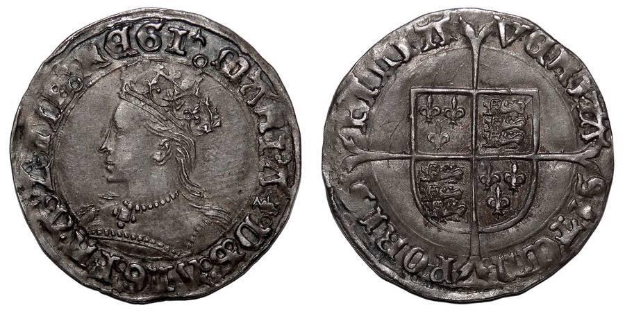 ENGLAND~AR Groat 1553-1554