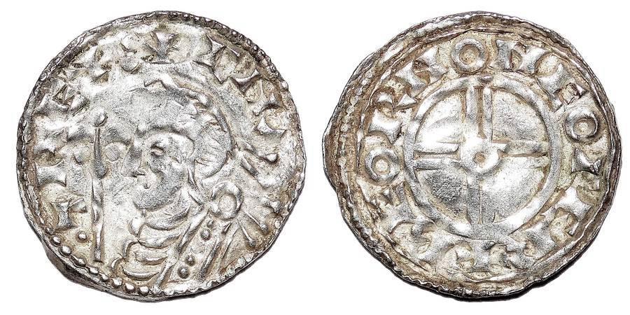 ENGLAND~AR Short Cross Penny 1016-1035 AD