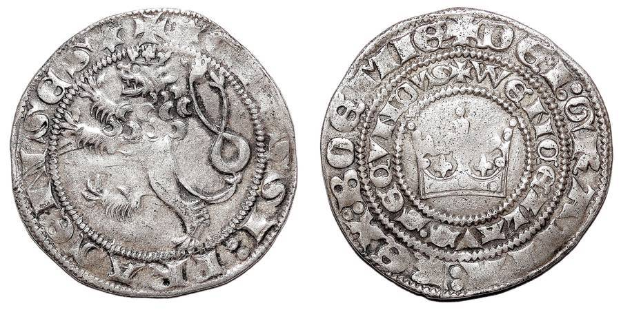 BOHEMIA (KINGDOM)~AR Pragergroschen 1278-1305 AD