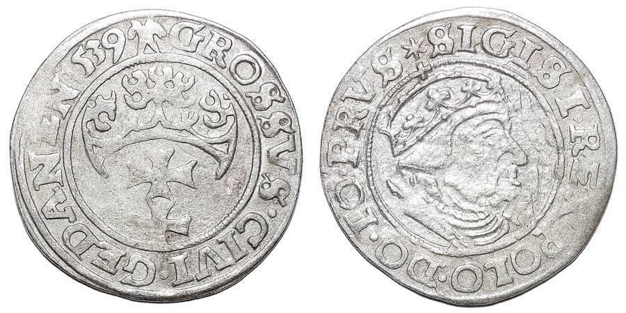 GDANSK/ DANZIG (MUNICIPAL)~AR Groschen 1539