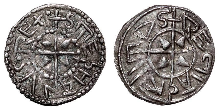 HUNGARY (KINGDOM)~AR Denar 1000-1038 AD