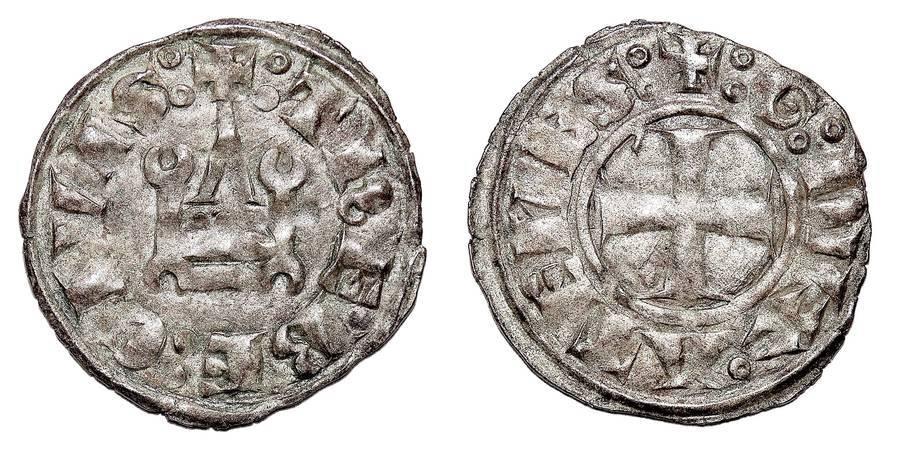 ATHENS (DUCHY)~AR Denier 1280-1287 AD