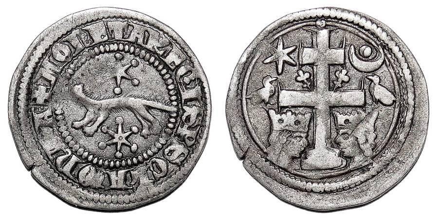 SLAVONIA (BANOVATE)~AR Denar 1269-1270 AD