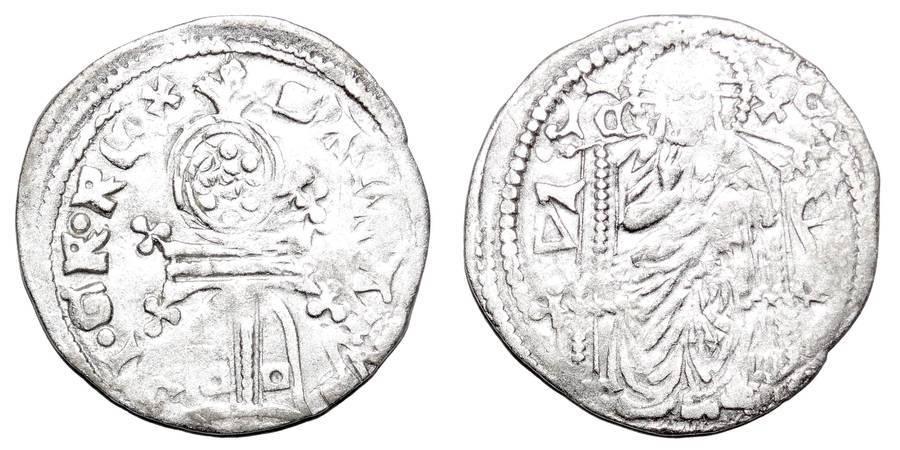 SERBIA (KINGDOM)~AR Helm Dinar 1331-1346 AD