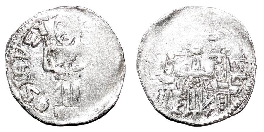 SERBIA ~AR Reduced Dinar <Type 2> 1371-1395 AD