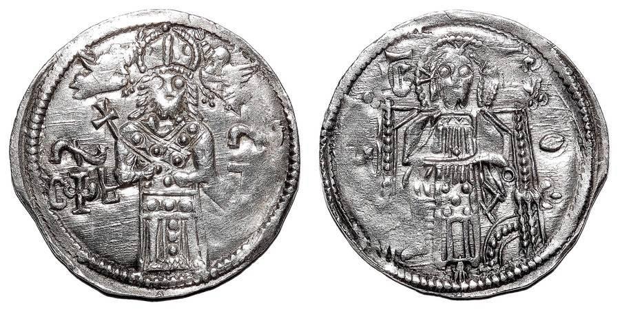 SERBIAN EMPIRE ~AR Coronation Dinar c.1346 AD