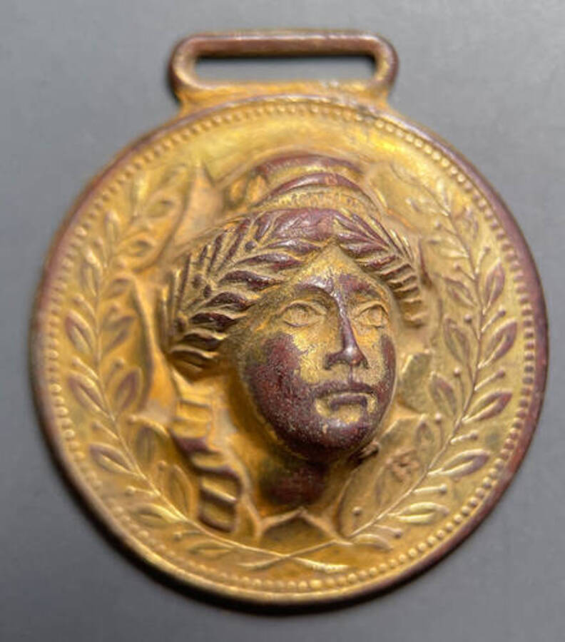 US Pushed Out Liberty Head Watch Fob