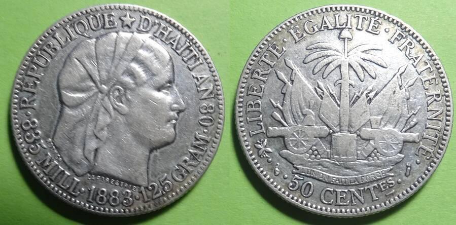 Haiti 1883 50 centimes