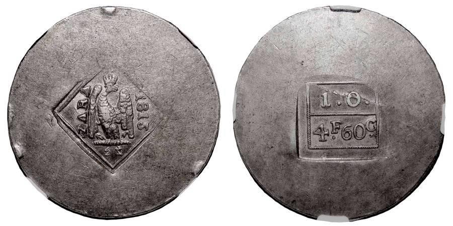 ZARA/ZADAR (SIEGE)~4 Francs:60 Centimes 1813