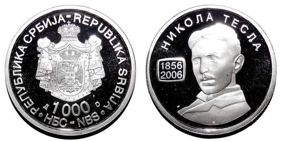 SERBIA (REPUBLIC)~1,000 Dinara 2006