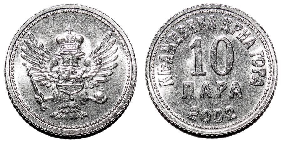 MONTENEGRO~10 Para 2002
