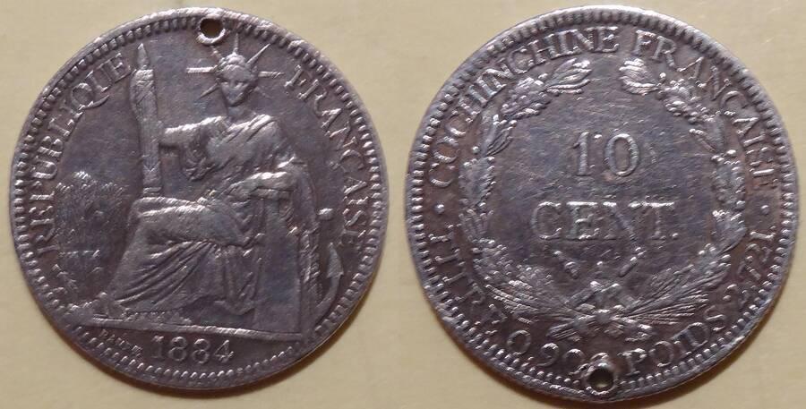 French Cochin-China 1884 10 centimes