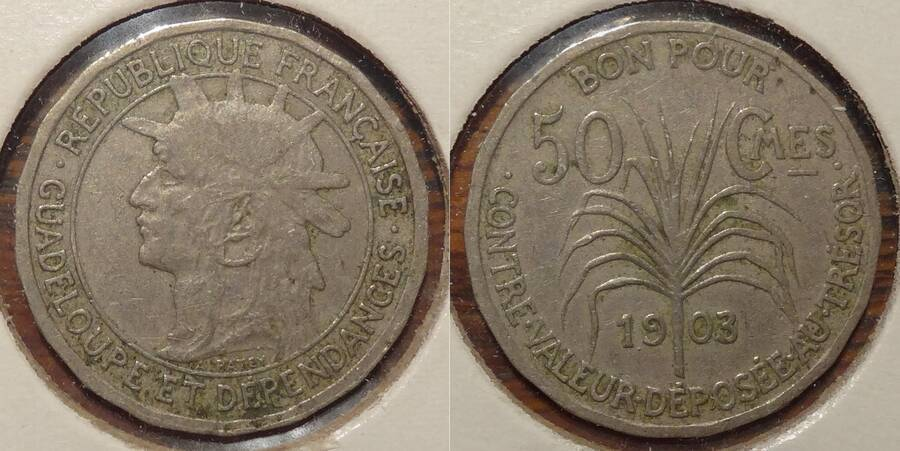 Guadeloupe 1903 50 centimes