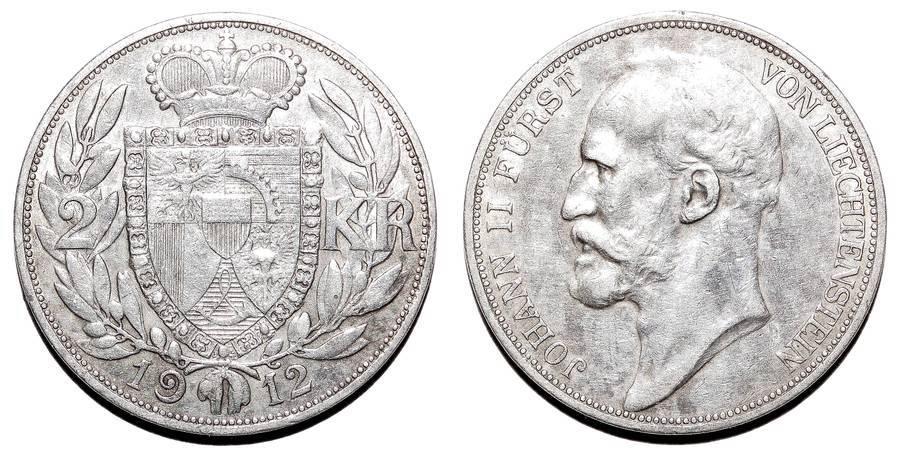 LIECHTENSTEIN~2 Kronen 1912